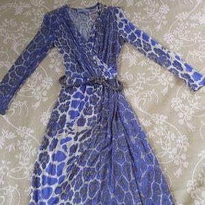 Blumarine surplice leopard print dress